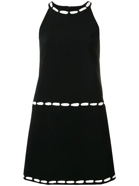Moschino Fitted Mini Dress In Black
