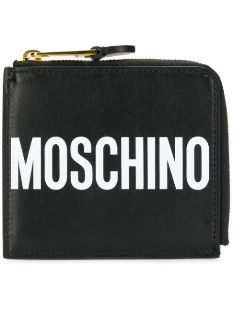 Moschino All Around Zipped Wallet In Black