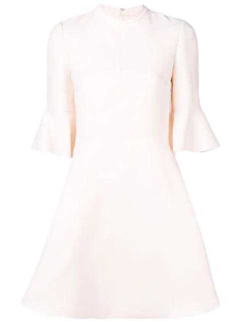Valentino Flared Mini Dress In White