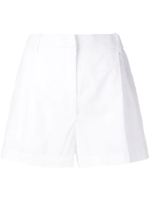 N°21 Pleated Short Shorts In White