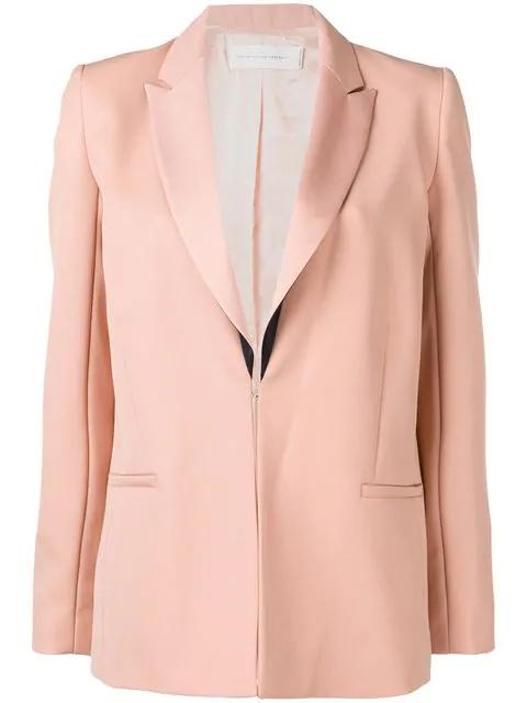 Victoria Victoria Beckham Contrast Lapel Blazer In Pink