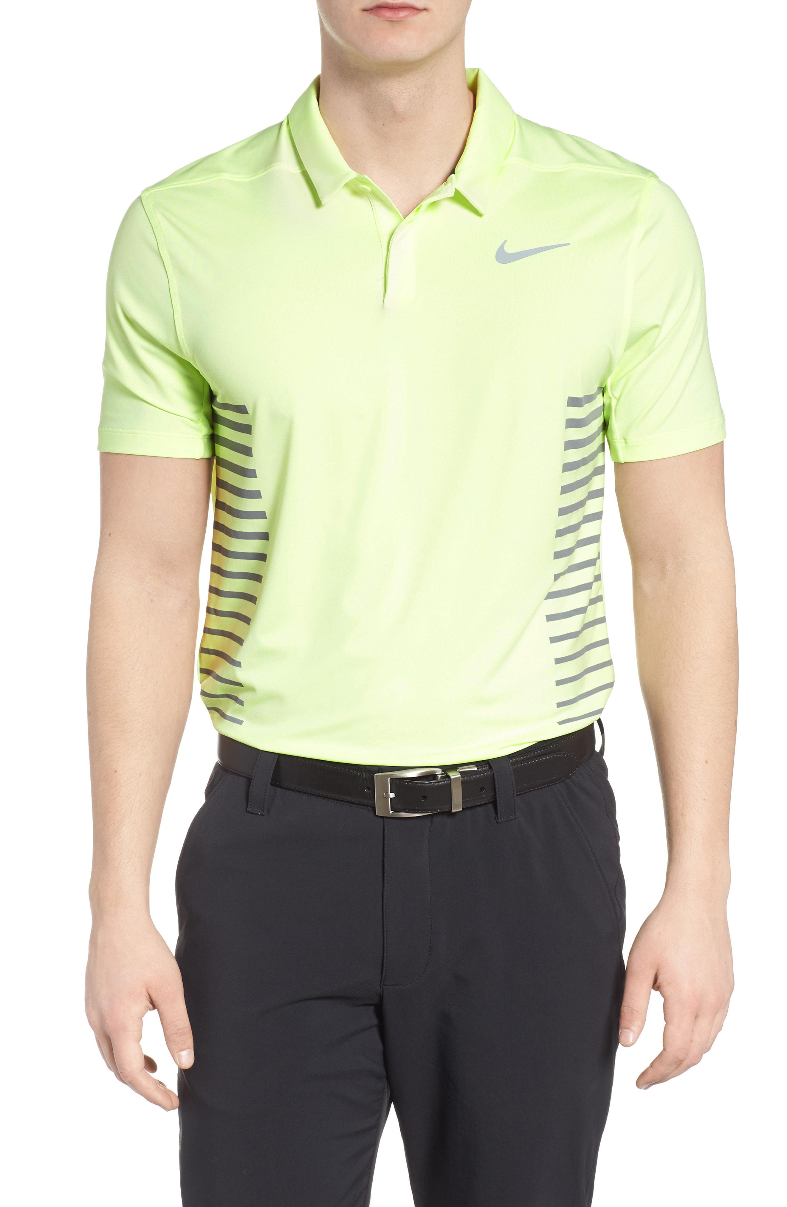 da7f637d Nike Men's Golf Cooling Print Polo In Tropical Pink/Black | ModeSens