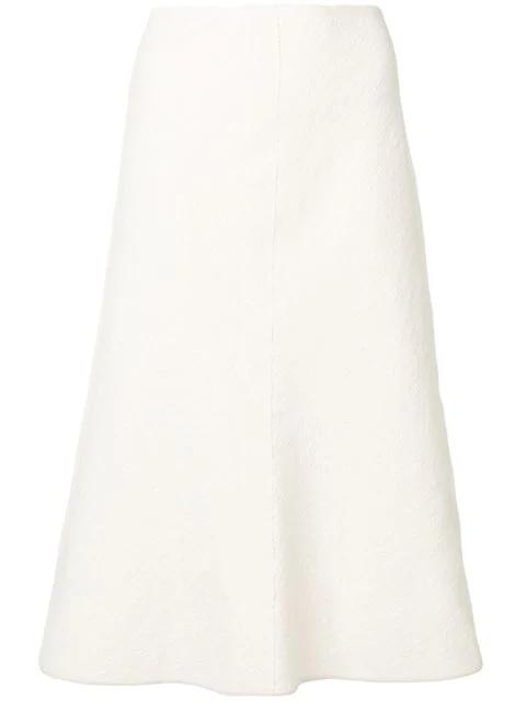 Jil Sander A-Line Midi Skirt In Neutrals