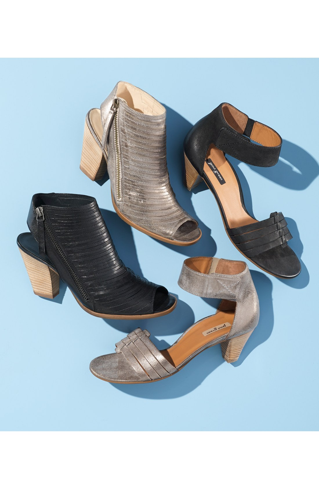1783d76e2b ... crafted in meticulously stitched leather and styled with a  leg-lengthening peep toe. Style Name  Paul Green  Cayanne  Leather Peep Toe  Sandal (Women).