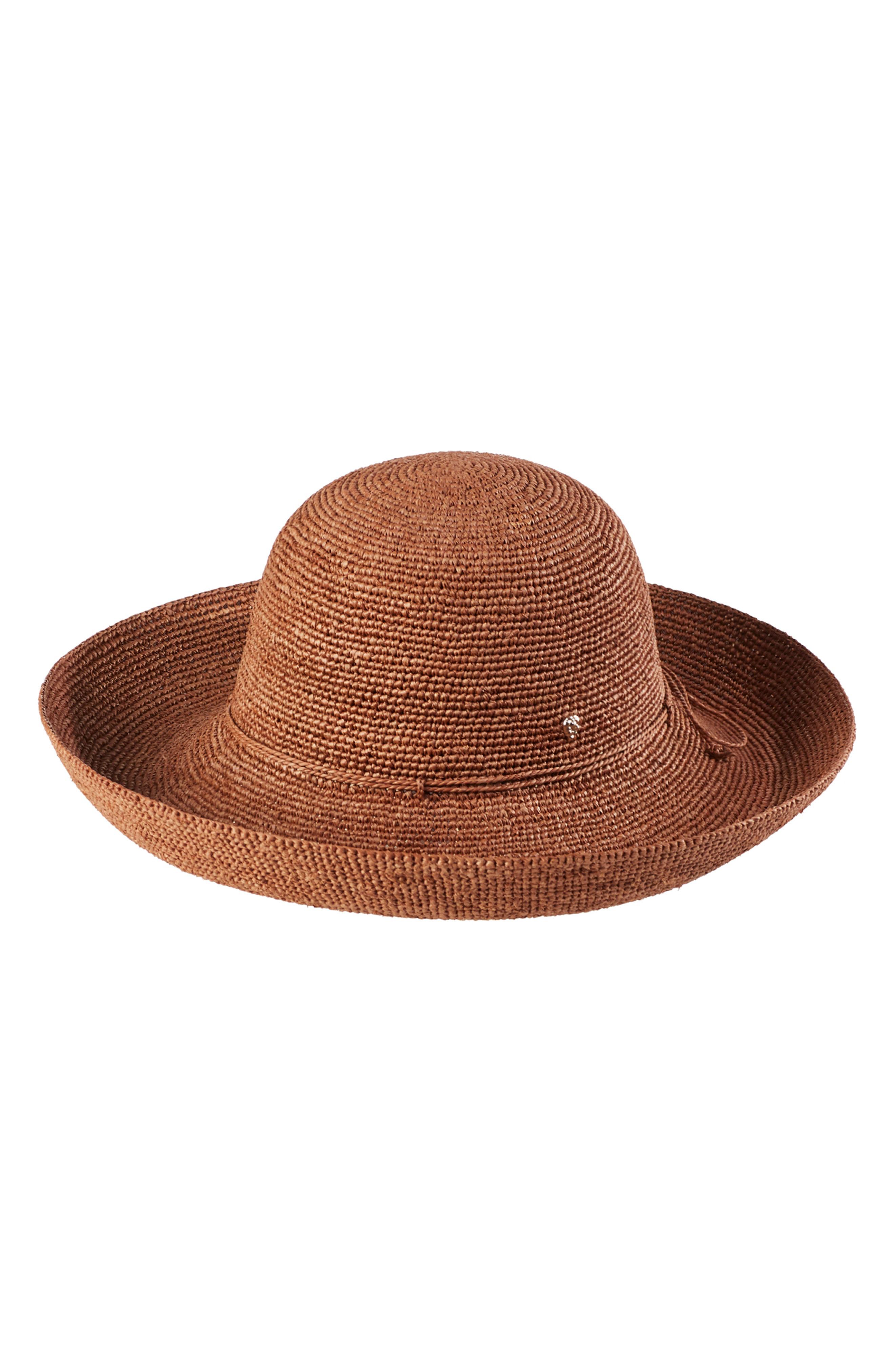 936e777064e7d Helen Kaminski  Provence 12  Packable Raffia Hat - Brown In Dark Maple