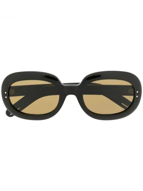 Gucci Round-Frame Acetate Sunglasses In Black