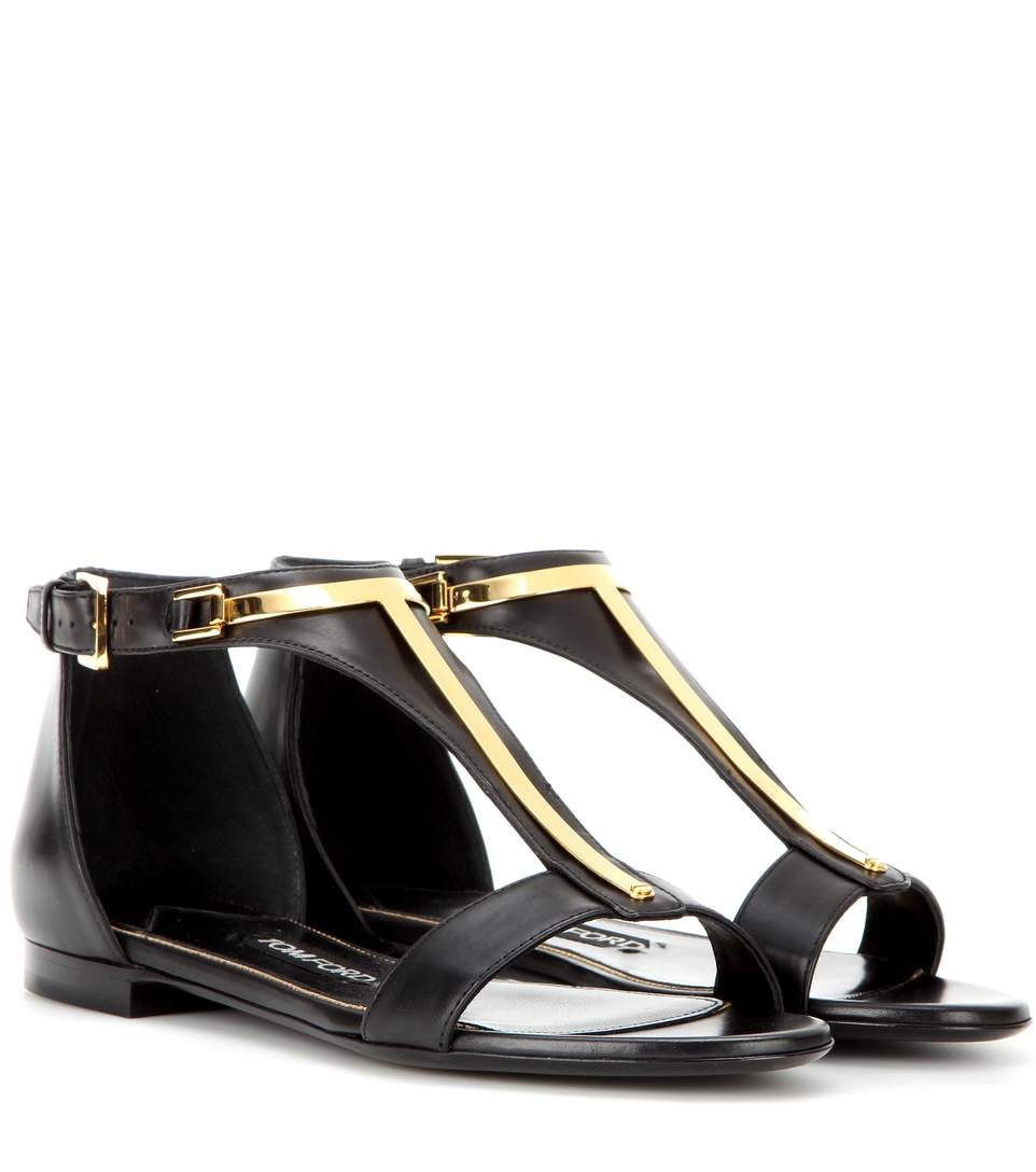 Tom Ford Embellished Leather Sandals