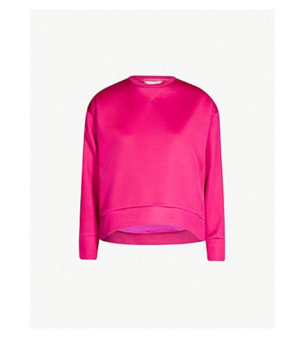 Ted Baker Keliin Satin Sweatshirt In Deep-Pink