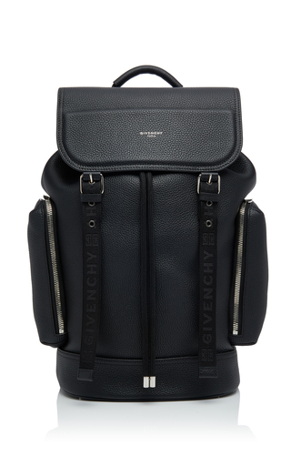 Givenchy Buckled Textured-Leather Backpack In Black