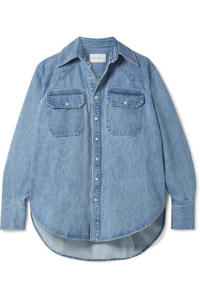 064d9209850752 Matthew Adams Dolan Oversized Denim Shirt In Blue