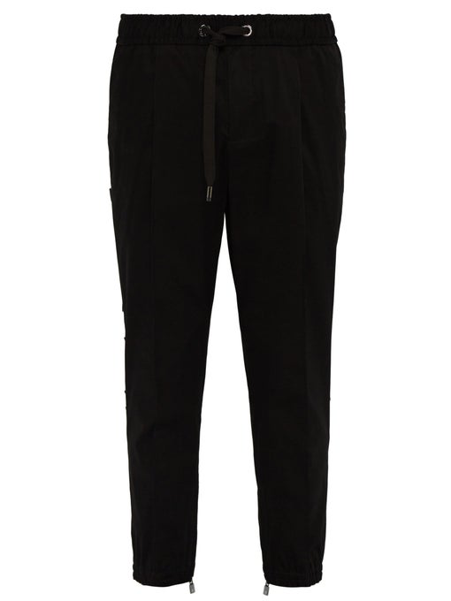 Dolce & Gabbana 3D Logo-Panel Tailored Track Pants In Black