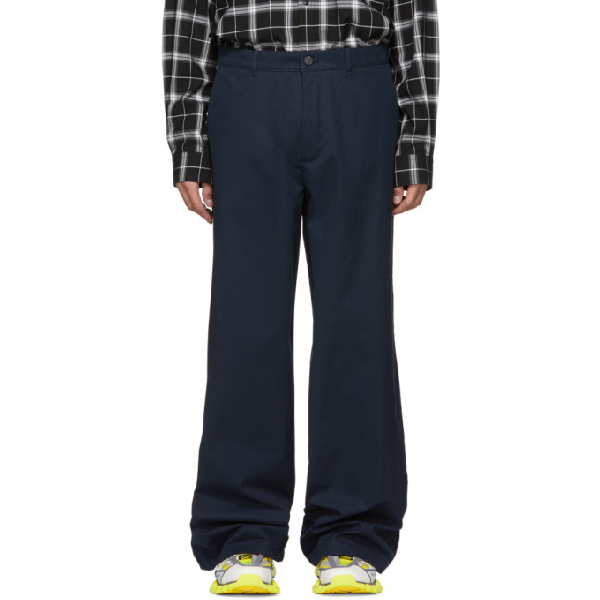 Balenciaga Navy Baggy Trousers in 4100 Dknvy