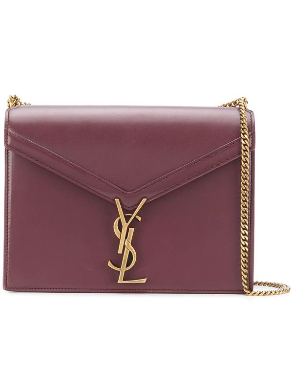 a37ba9996 Saint Laurent Cassandra Monogram Clasp Bag In Smooth Leather In 6475 -Rouge  Legion