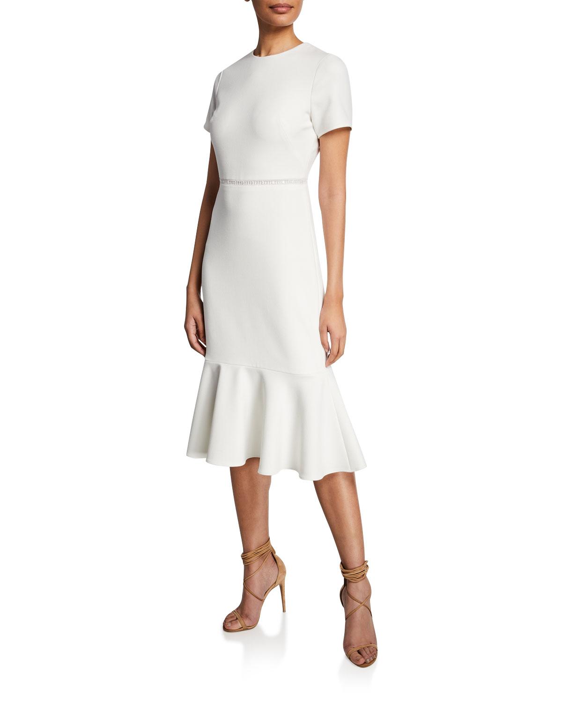06d7838658 Shoshanna Ravello Short-Sleeve Flounce Dress In White