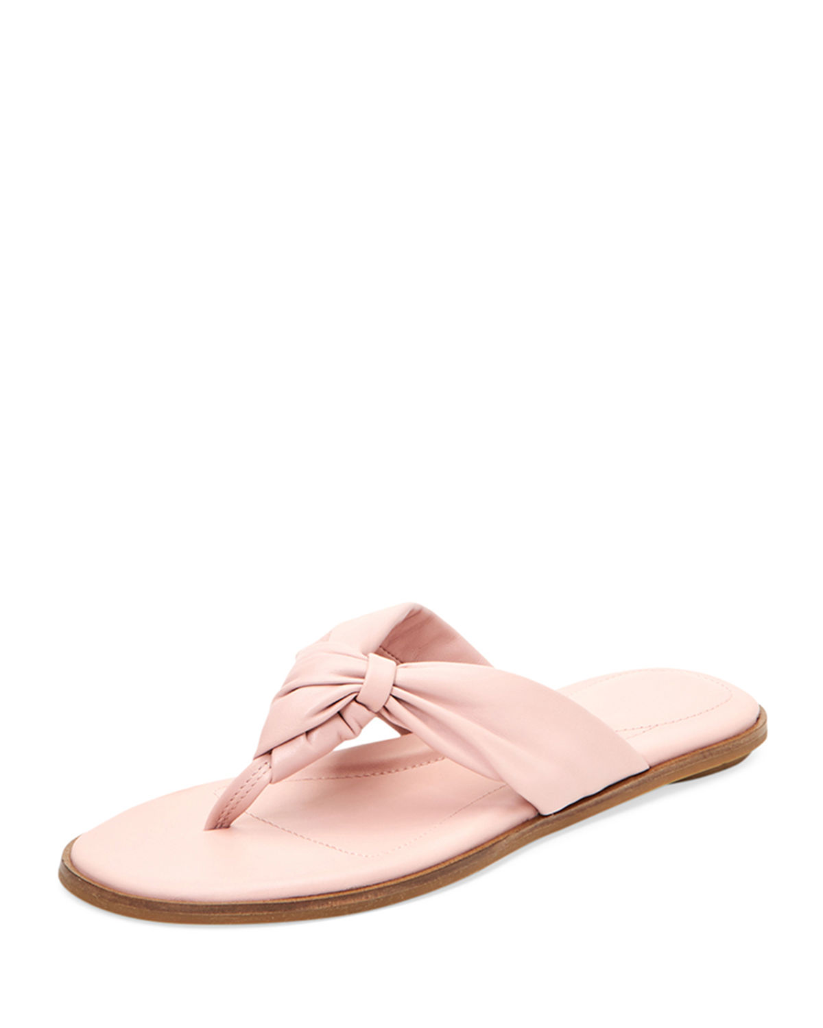 0953ad304c9 Taryn Rose Karissa Leather Twisted Thong Sandals In Light Pink ...