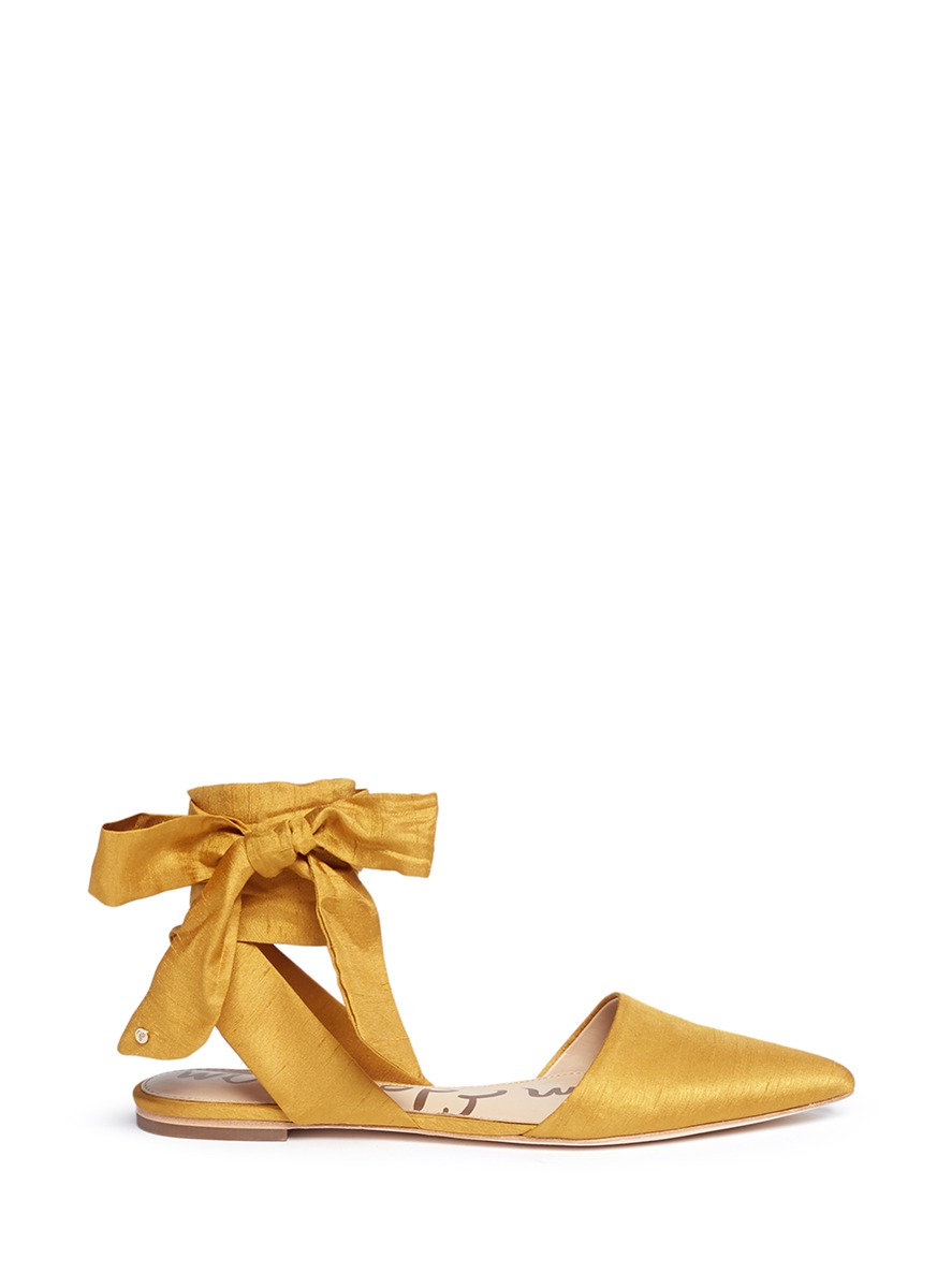a690b9ef2 Sam Edelman  Brandie  Ankle Tie Satin Flats