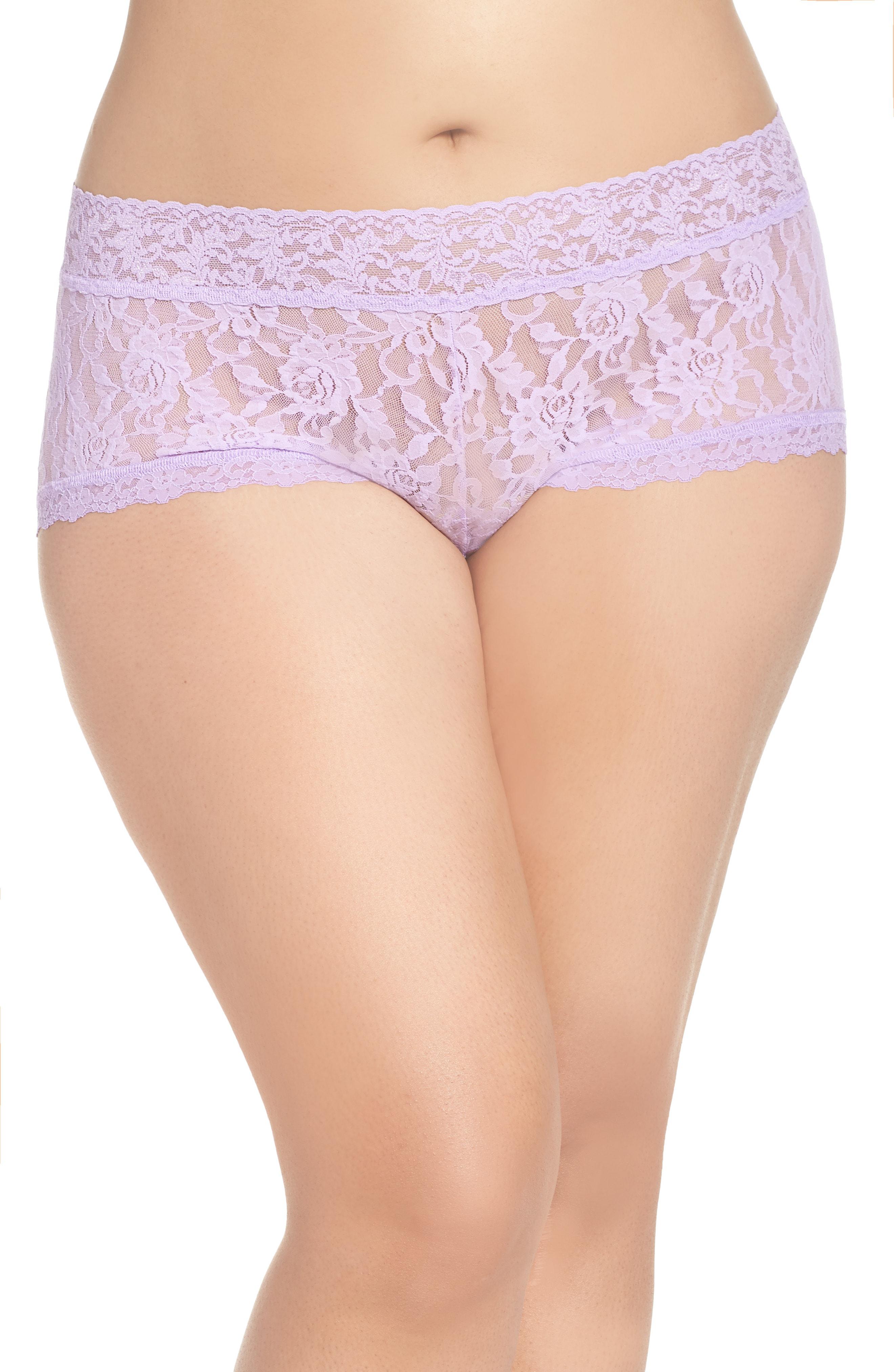 b340eb002 Hanky Panky Stretch Lace Boyshorts In Lavender