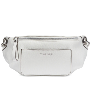 bcaa7c8be Calvin Klein Sonoma Belt Bag In White/Silver | ModeSens