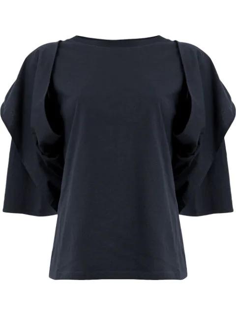 Aalto Draped Sleeve Blouse In Blue