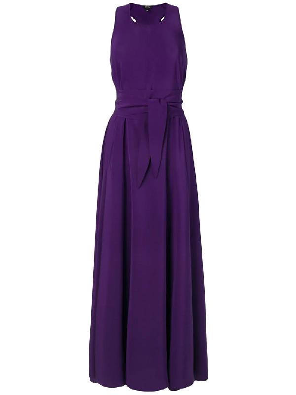Aspesi Silk Dress In Purple