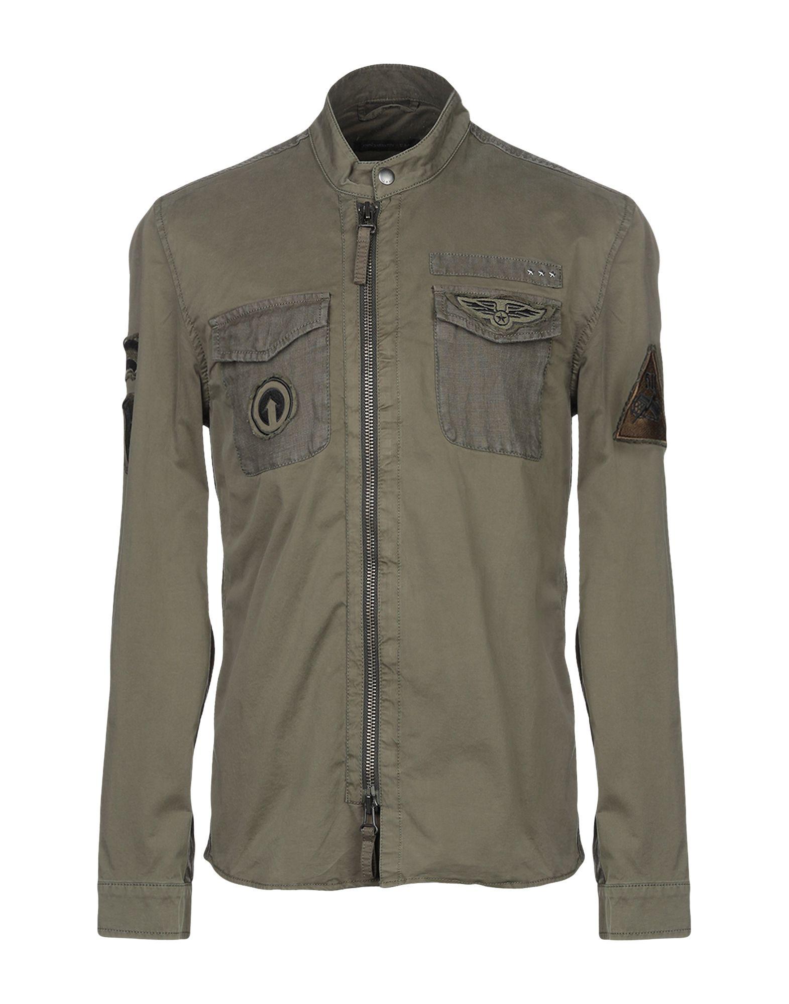 John Varvatos Biker Jacket In Military Green