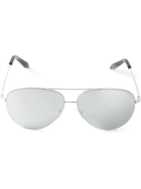 Victoria Beckham 'classic Victoria' Mirror Aviator Sunglasses