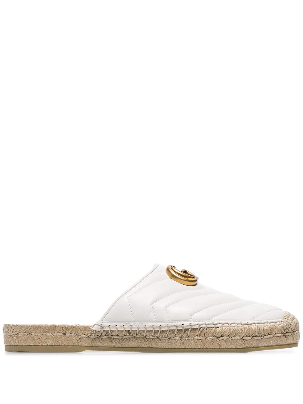 666d2e2f8ae Gucci White Pilar 50 Backless Leather Espadrilles