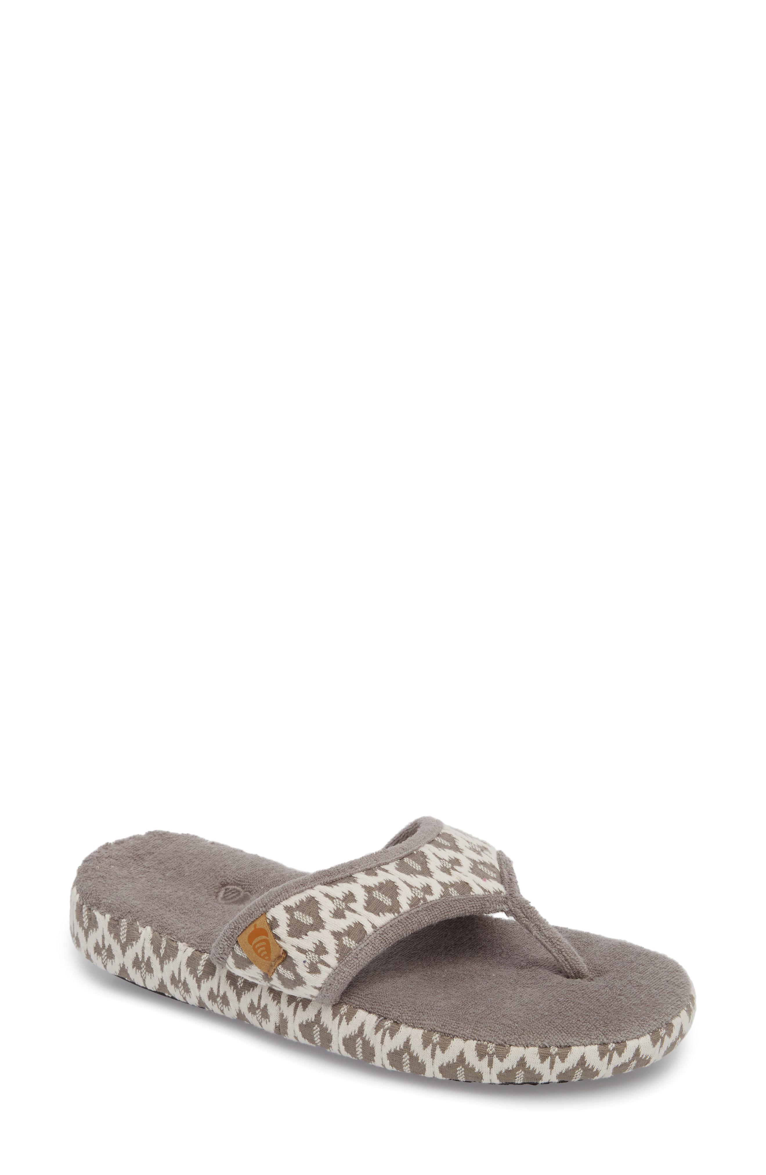 b8550dc05ca Acorn Summerweight Slipper In Pebble Diamond Fabric