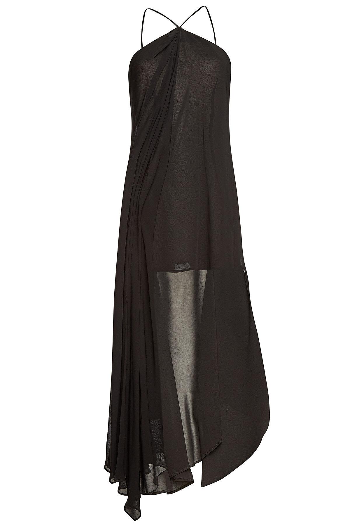 Jacquemus Asymmetric Mini-Dress In Black