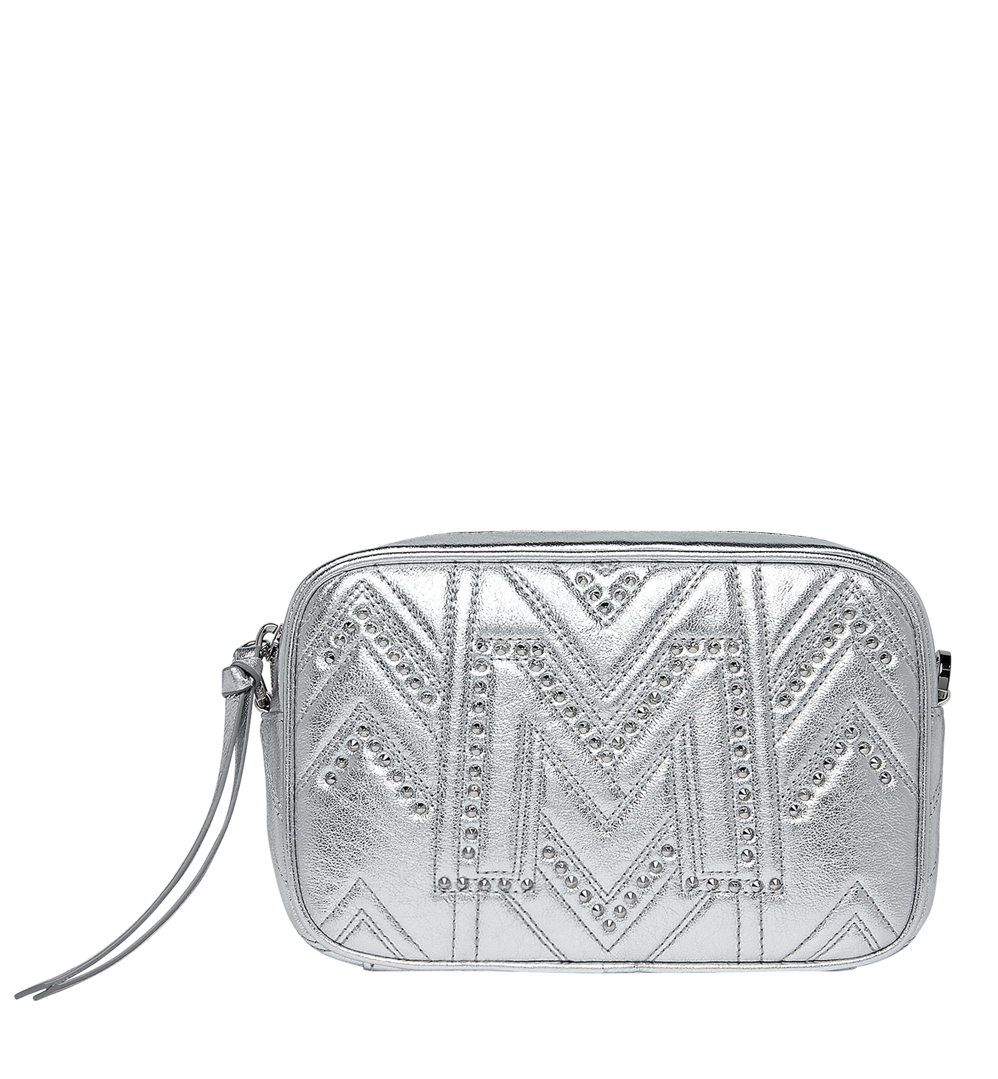 e37dfb841a Mcm Camera Bag In Quilted Studs In Berlin Silver   ModeSens