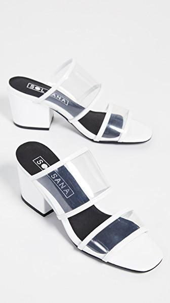Sol Sana Ziggy Mule Slides In White