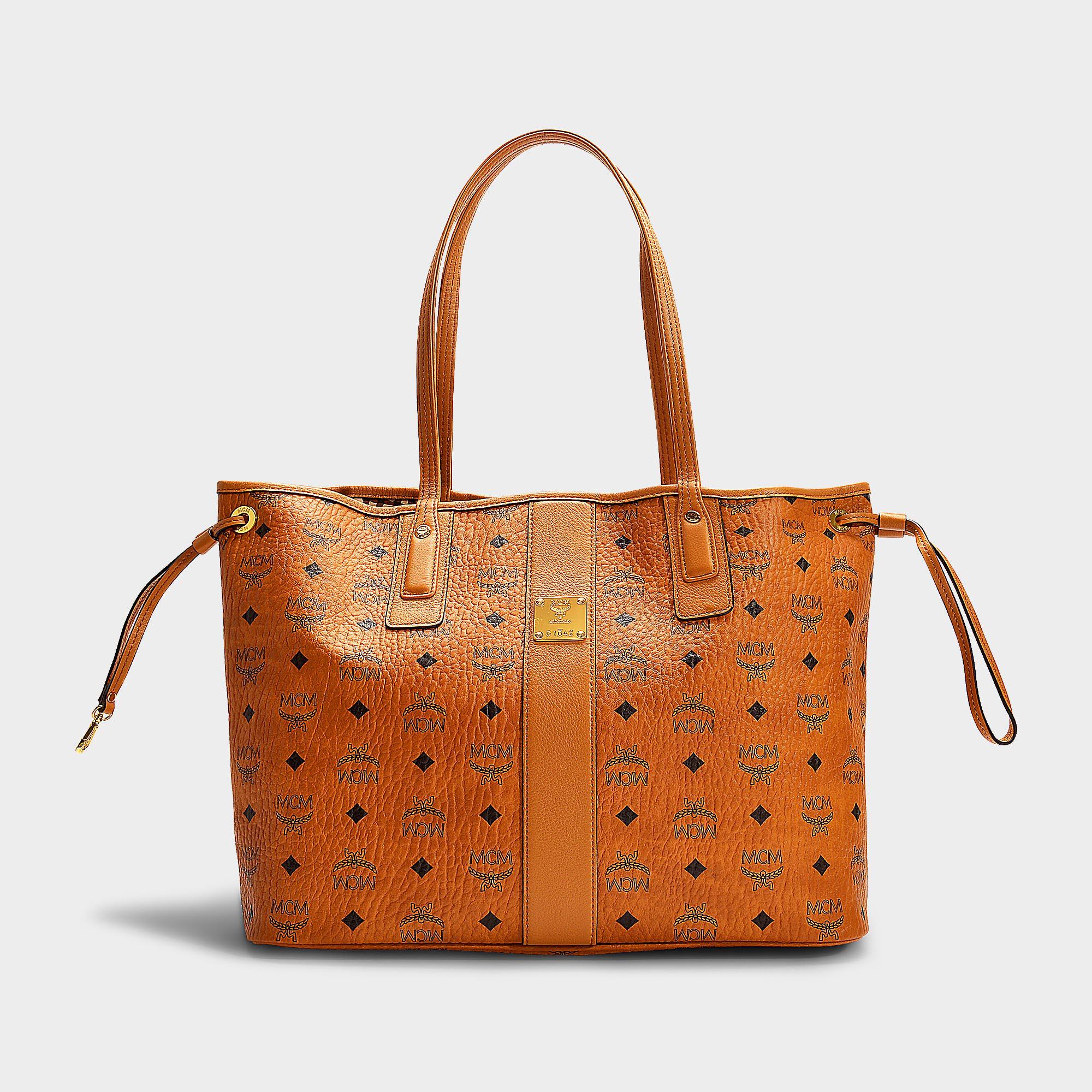 Mcm Liz Project Visetos Reversible Medium Shopper Bag In