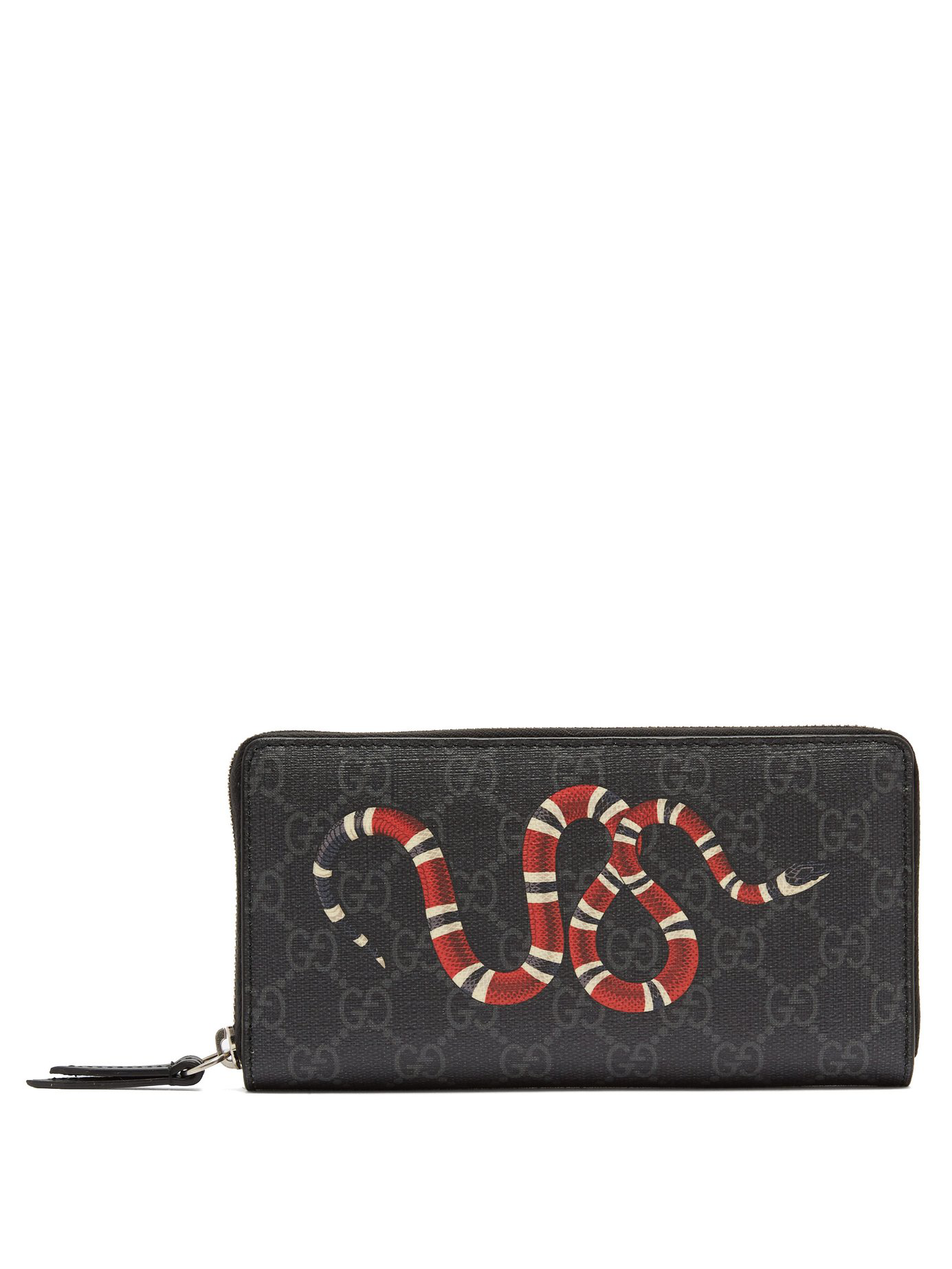 289e39a262 Kingsnake Zip-Around Leather Wallet in Black