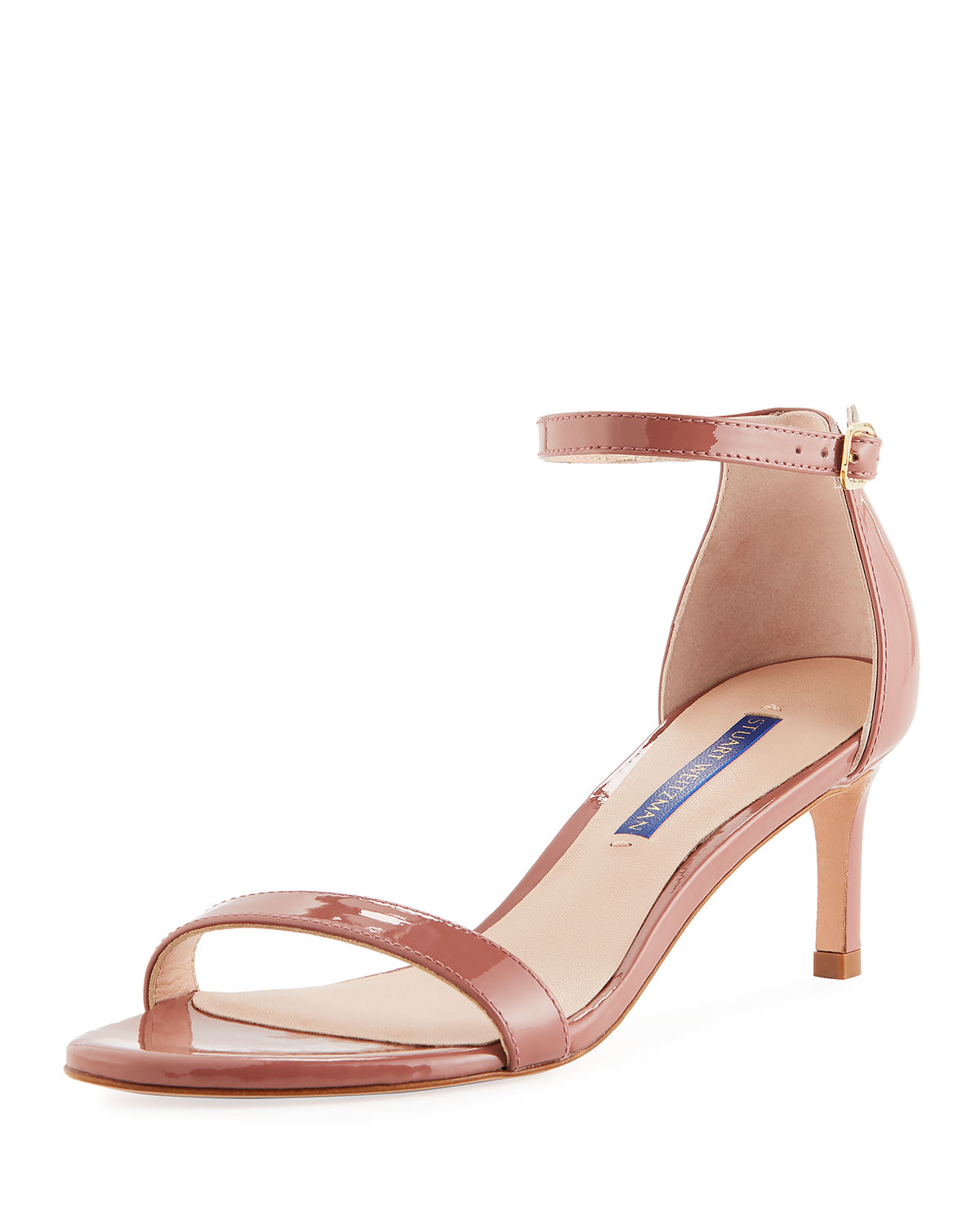 4ab299119e9a Stuart Weitzman Nunaked Straight Patent Leather Sandals In Rose Clay ...