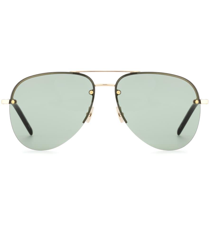 53d9241d50d Saint Laurent Classic 11 Aviator Sunglasses In Grey | ModeSens