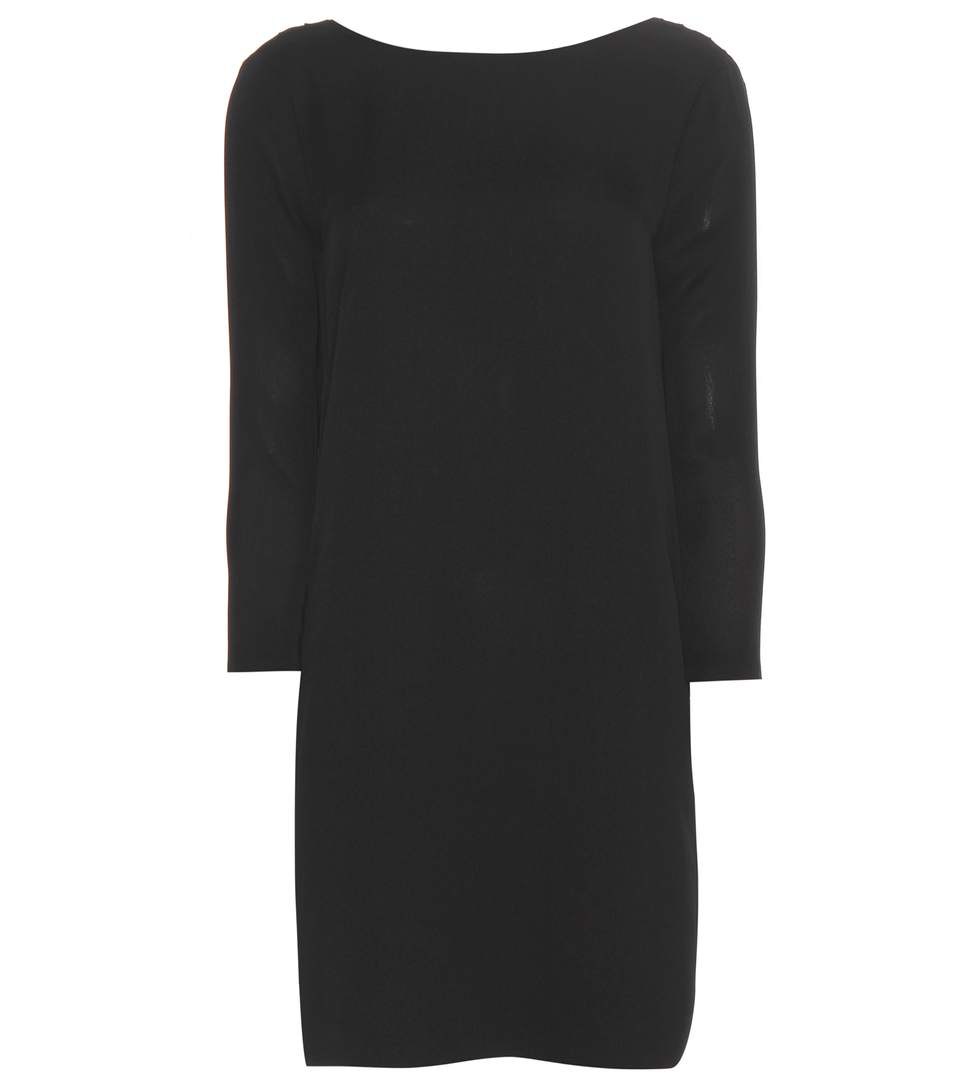 Tom Ford Draped-Back Silk-Crepe Dress In Black