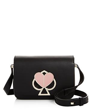 Small Flap Leather Shoulder Bag In Black Gold
