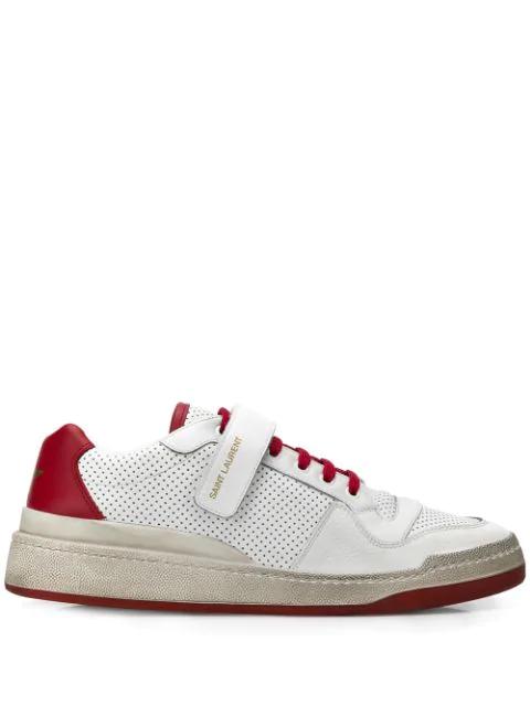 fedc12ff Men's Travis Leather Grip-Strap Sneakers in White