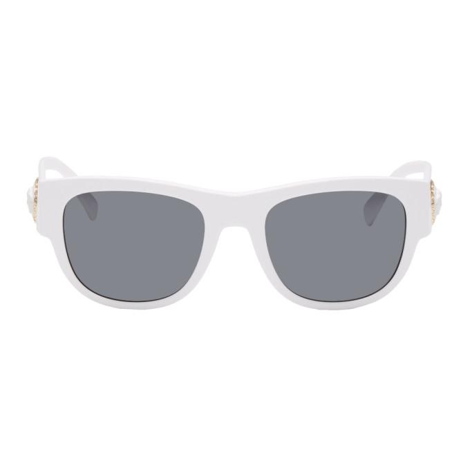 8164f3e6f8bc Versace White Medusa Ares Sunglasses In 401 87 Wht