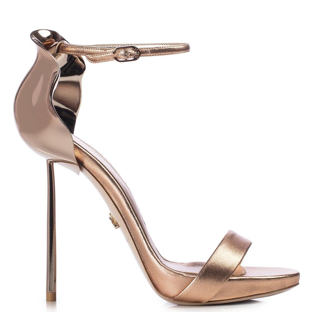Le Silla Petalo Sandal 120 Mm In Gold/Pink
