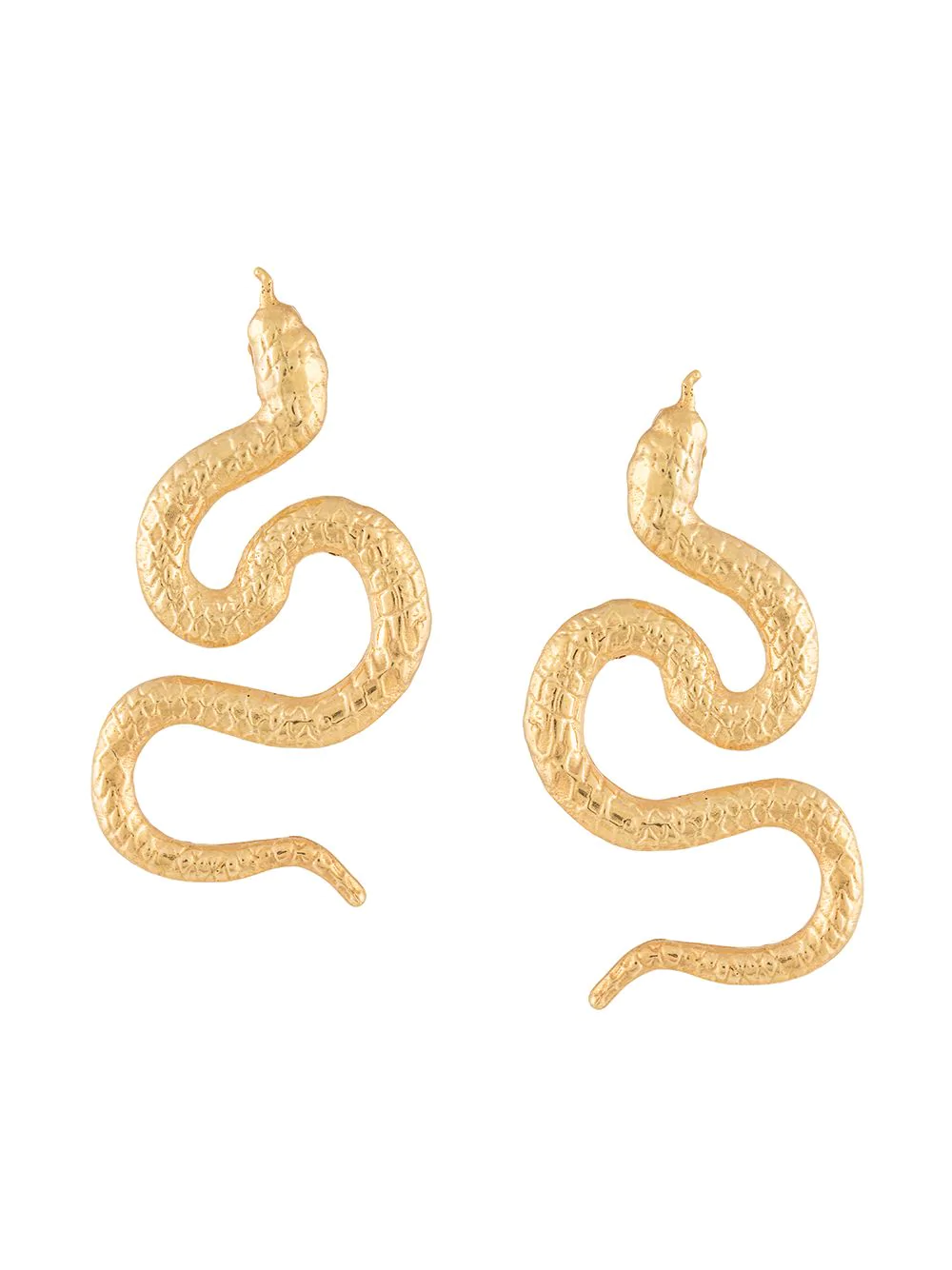 Natia X Lako Small Snake Earrings In Gold