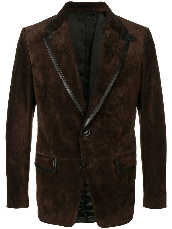 be2a96f3437 Tom Ford Cashmere Suede Sartorial Jacket In Brown