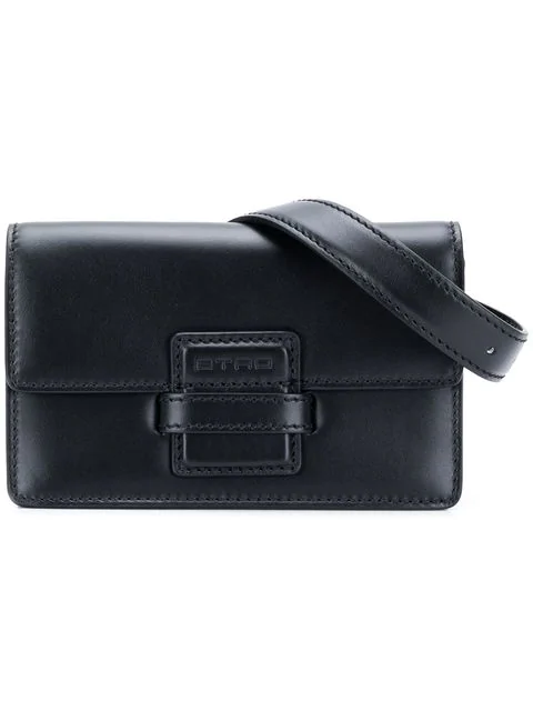 Etro Rainbow Shoulder Bag In 0001 Black