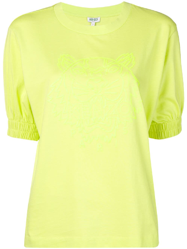 0798a93f Kenzo Neon Tiger Comfort T-Shirt In Yellow | ModeSens