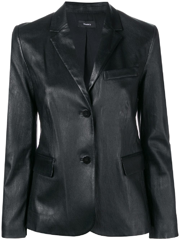 d910c29f2f Theory Classic Leather Jacket In Black | ModeSens