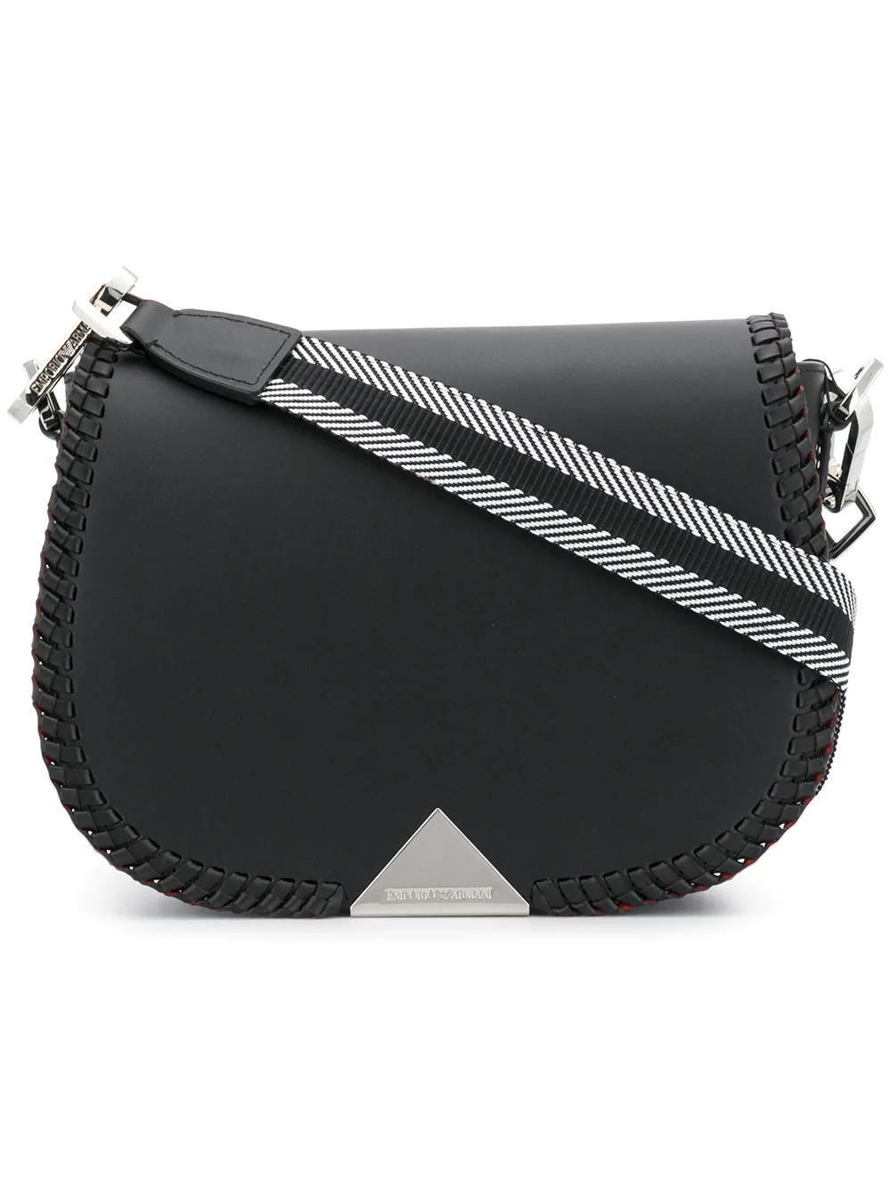 Emporio Armani Weave Shoulder Bag - Black  7e843f17f1ddc