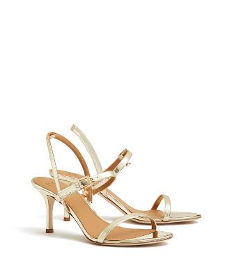 6aa40b0303f4 Tory Burch Penelope Metallic Slingback Sandals In Spark Gold