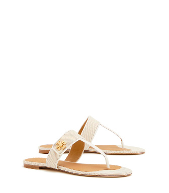 109bf8181 Tory Burch Kira Canvas Thong Sandal In Natural   Perfect Ivory ...