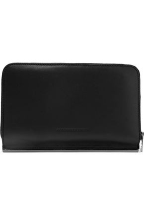 Alexander Wang Woman Leather Continental Wallet Black