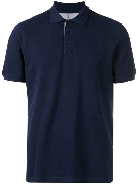 Brunello Cucinelli Basic Polo Shirt In Blue